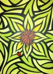 Marvalisa Coley-Shades of Green Wildflower 11x14 Acrylic on Canvas